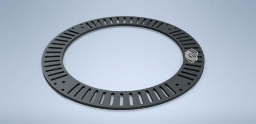 Чугунная приствольная круглая решётка для сохранения корневой системы дерева ПР-02